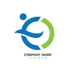 E letter logo vector