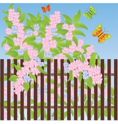 fence background vector image