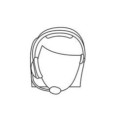 Figure face woman technological services icon vector