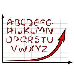 graph alphabet vector image
