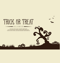 greeting card for halloween style vector image