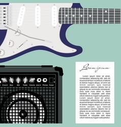 guitar and speaker vector image