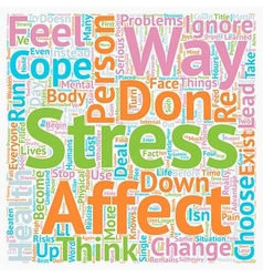 How stress affects a person text background vector