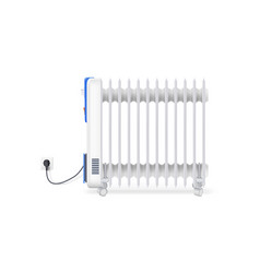 Icon of oil radiator isolated on horizontal white vector