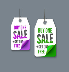Label tags set - buy one get fre vector