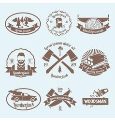 Lumberjack woodcutter label vector