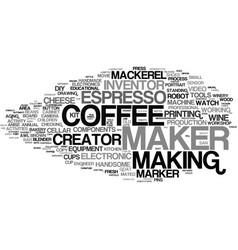 Maker word cloud concept vector