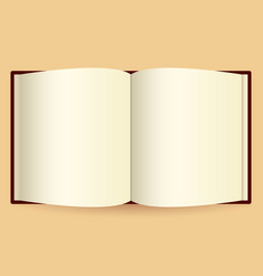 opened book isolated on white photo-realistic vector image