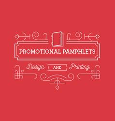 Print design branding bage template for design vector