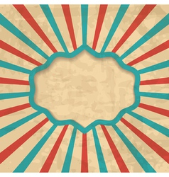retro background with a frame vector image vector image
