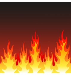 Seamless fire flame background vector