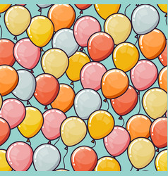 Seamless pattern with balloons vector