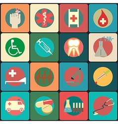 Set of medical icons - icons vector image vector image