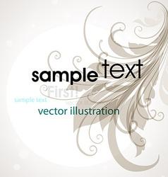 Simple floral design vector