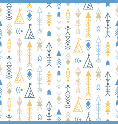 Tribal seamless pattern background vector