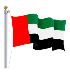 waving united arab emirates flag uae flag vector image vector image