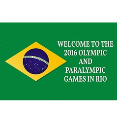 Welcome to the games 2016 patriotic banner for vector