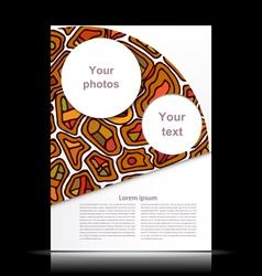 White flyer with orange geometric designs tribal vector image vector image