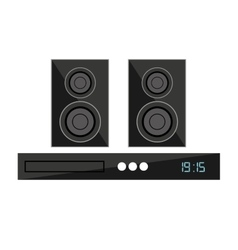 Speaker home theater isolated icon vector