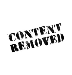 Content removed rubber stamp vector