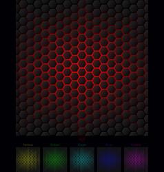 Hexagon background six isolated variants vector