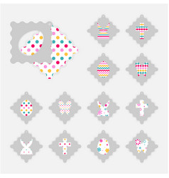 easter gift tags vector image