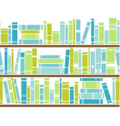 Bookshelf seamless pattern vector