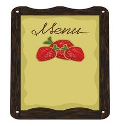 Cafe Strawberry Menu vector image