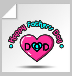 Fathers day icons 20 vector