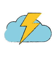 Storm electric cloud vector