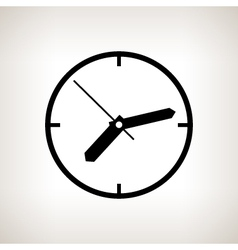 Silhouette watch on a light background vector image
