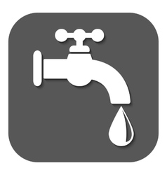 The tap water icon water symbol flat vector