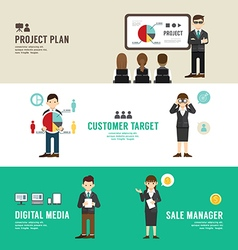 Business position design concept people set presen vector