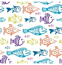 Background fish vector