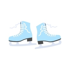 Figured ice skating in the flat style vector