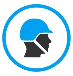 Soldier helmet icon vector
