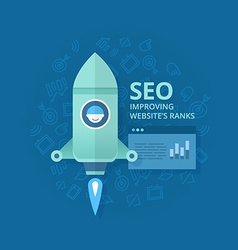 Seo Concept of Website Optimization vector image