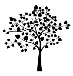 Black tree silhouette vector
