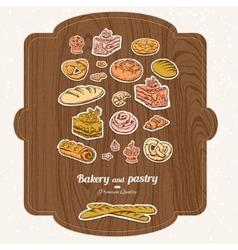 Bakery label set vector