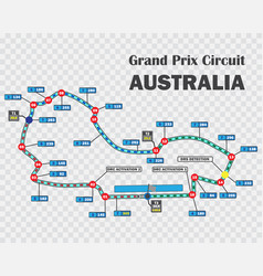 Australian grand prix race track detailed vector