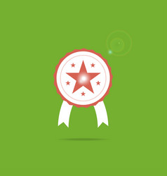 award icon symbol with star inside and sparkle vector image vector image