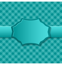 Blue paper background with badge in the center vector image vector image