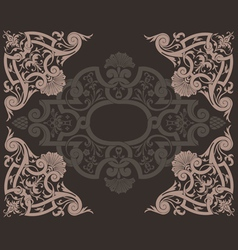 Brown Ornate Background vector image vector image