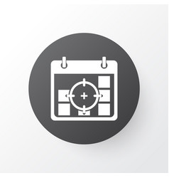 Business goals icon symbol premium quality vector