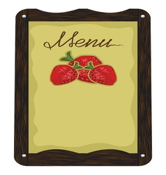 Cafe Strawberry Menu vector image