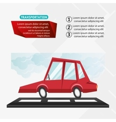 Car vehicle and transportation design vector