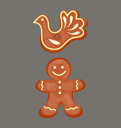 cookie gingerbread homemade breakfast bake cakes vector image
