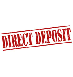 direct deposit stamp vector image