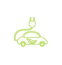 electric car in refill icon eco vector image
