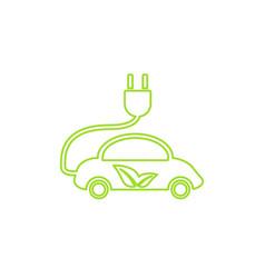electric car in refill icon eco vector image vector image